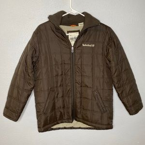 Timberland Brown Boys Lined Coat Size M (12-14)